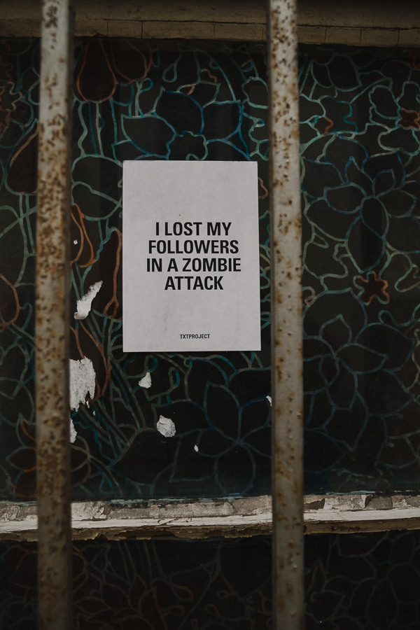 I lost my followers in a zombie attack