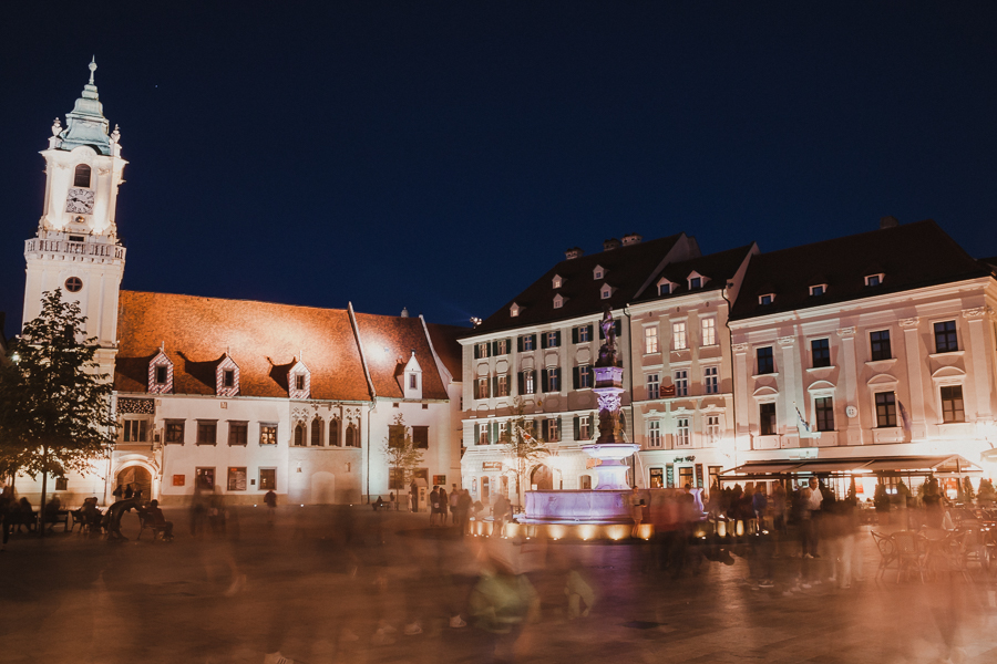 Rynek nocą