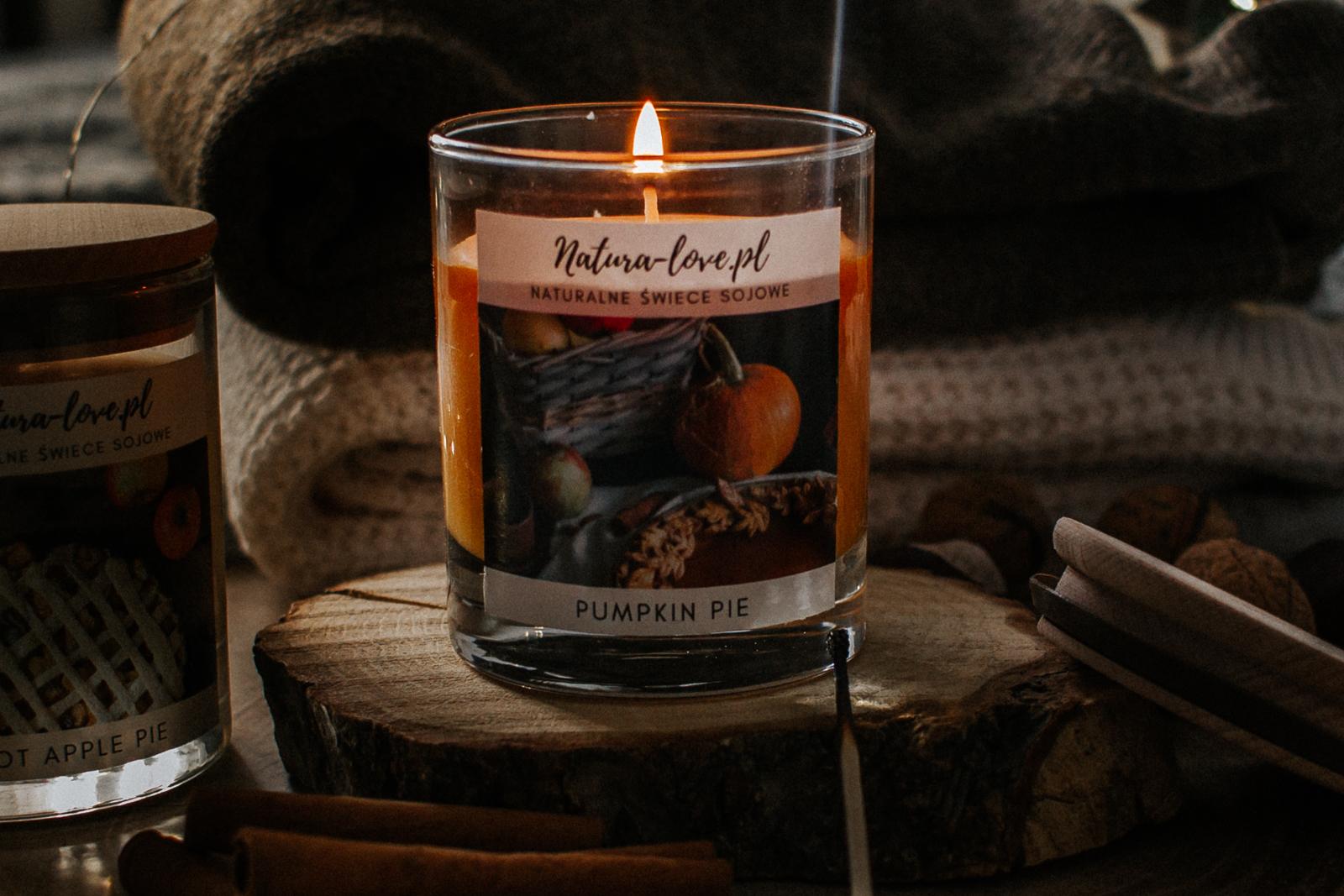 Jesienna świeca dyniowa